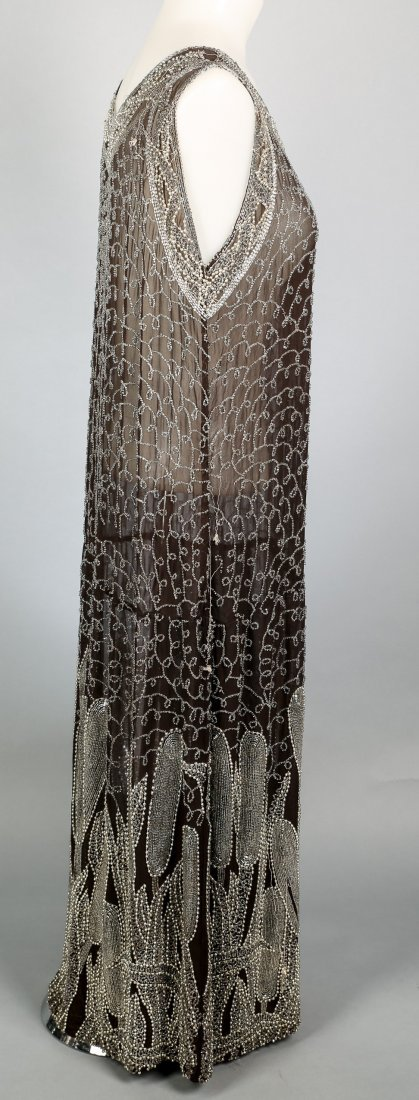 c1920 Heavily Beaded Flapper Dress - 2
