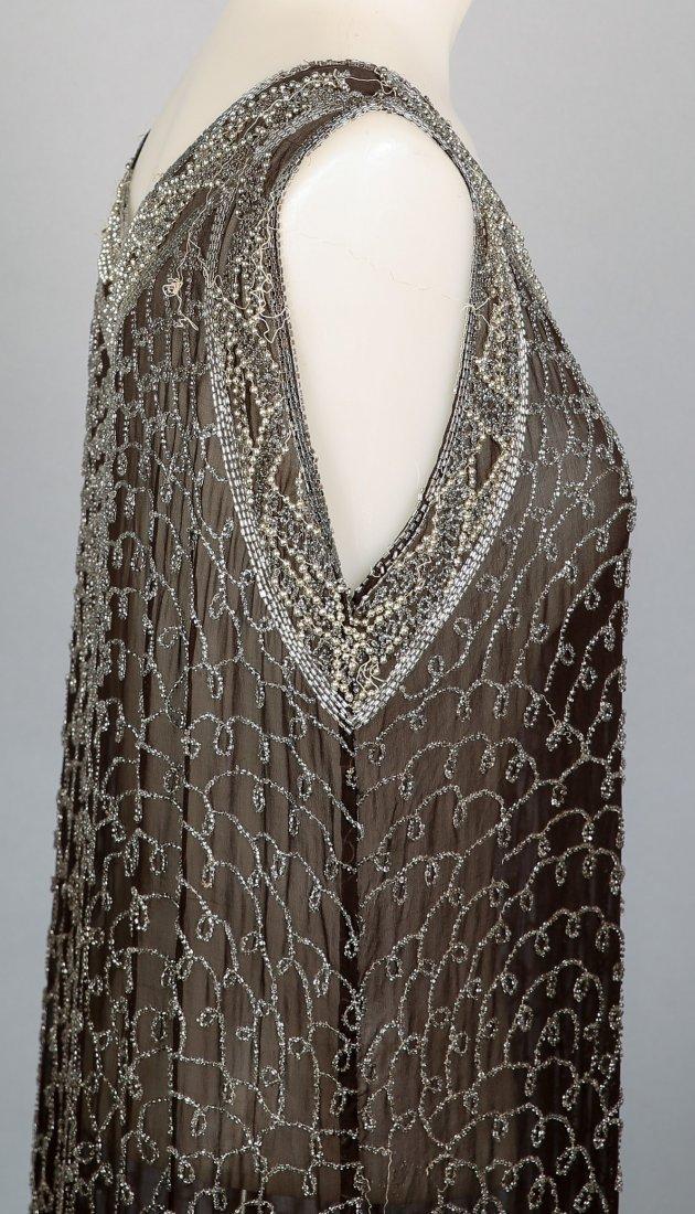 c1920 Heavily Beaded Flapper Dress - 3