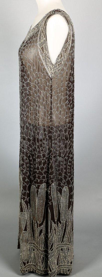 c1920 Heavily Beaded Flapper Dress - 4
