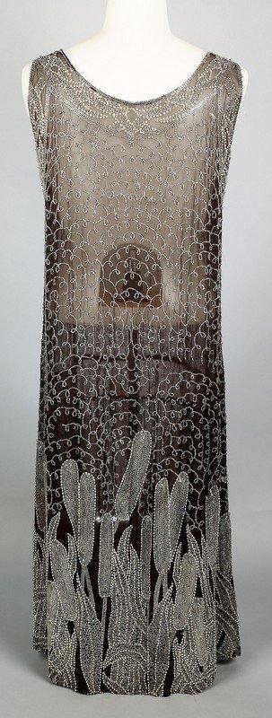 c1920 Heavily Beaded Flapper Dress - 5