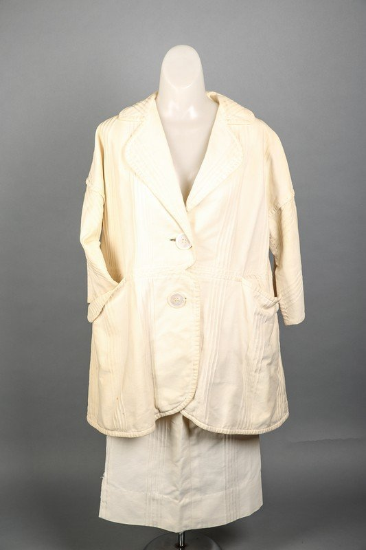 c1965 Rudi Gernreich Cream 2 Pc Ladies' Suit - 7