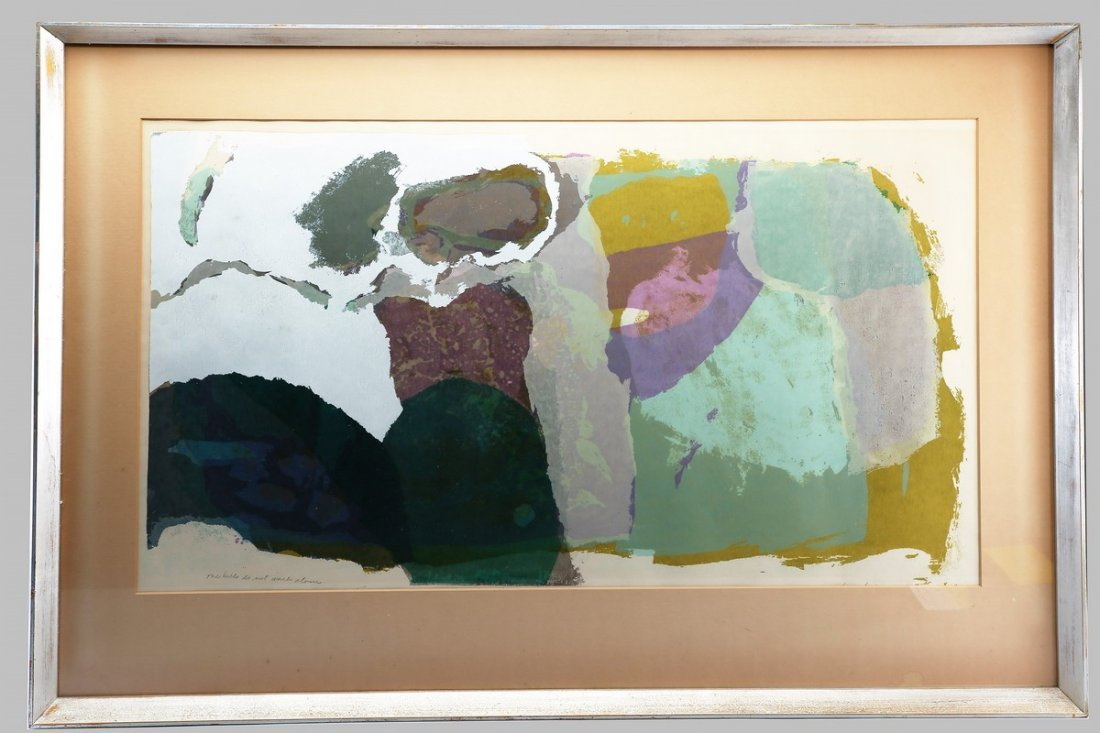 Mid Century Modern Art Lithograph by Haroon