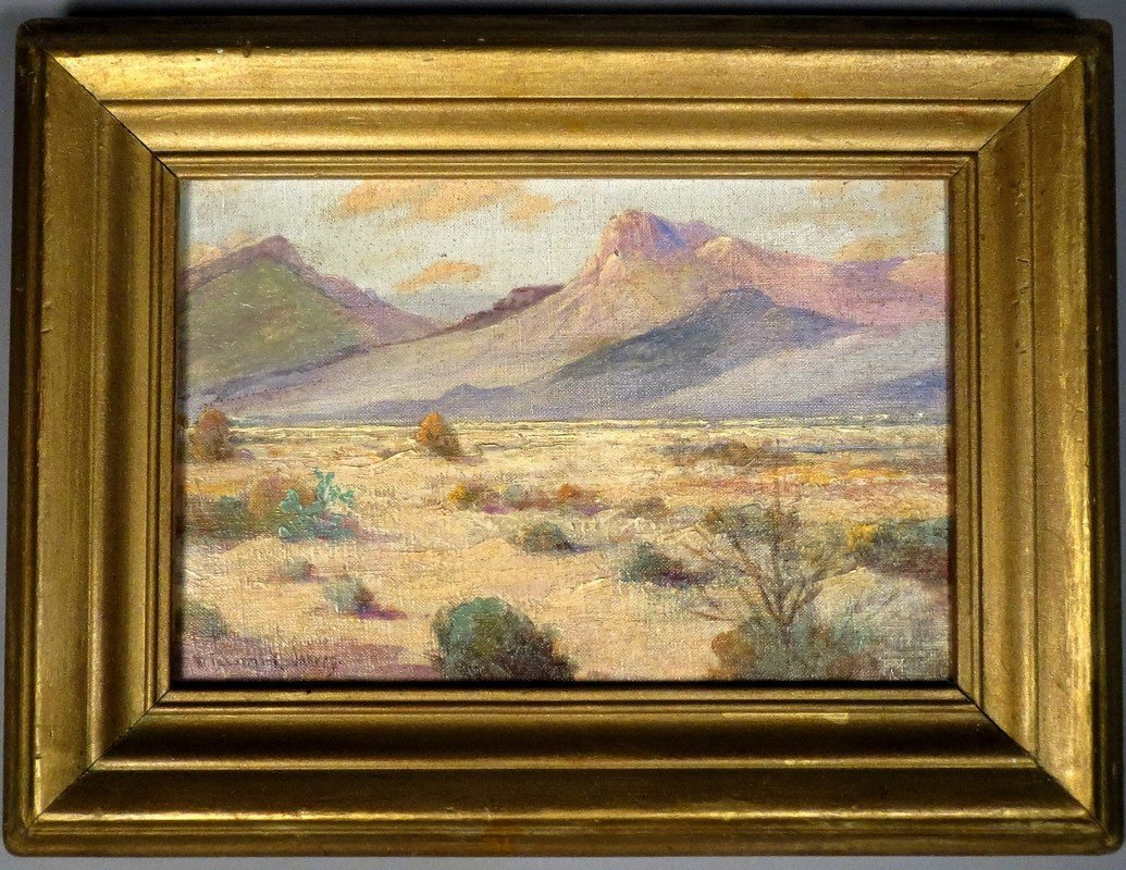 William Frederick Jarvis Oil on Canvas Western