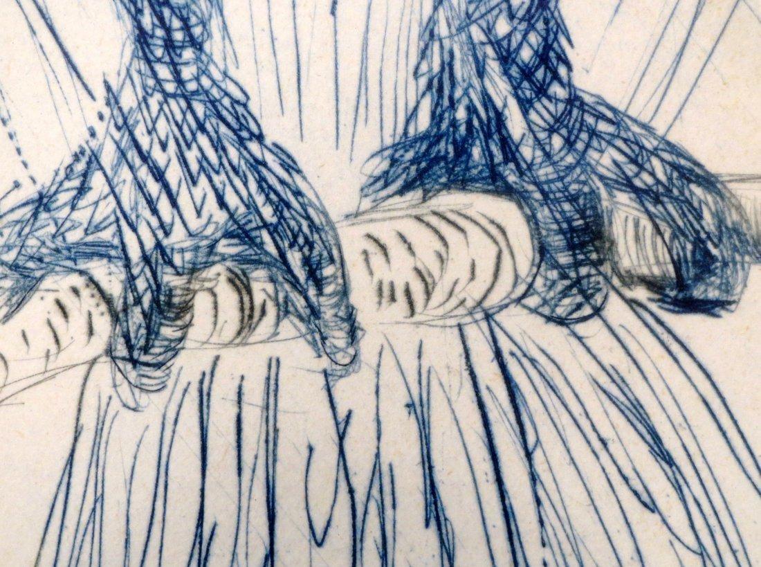 Dali La Chouette Bleue (The Blue Owl) drypoint Signed - 5