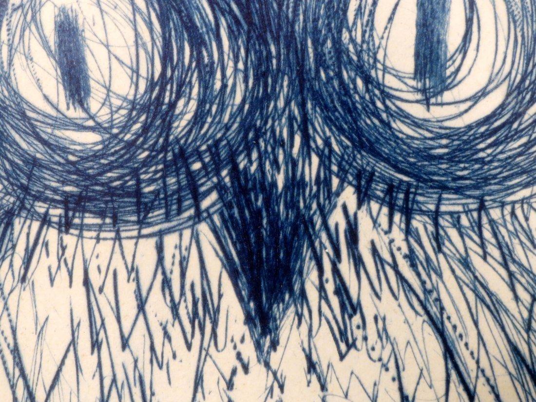 Dali La Chouette Bleue (The Blue Owl) drypoint Signed - 6