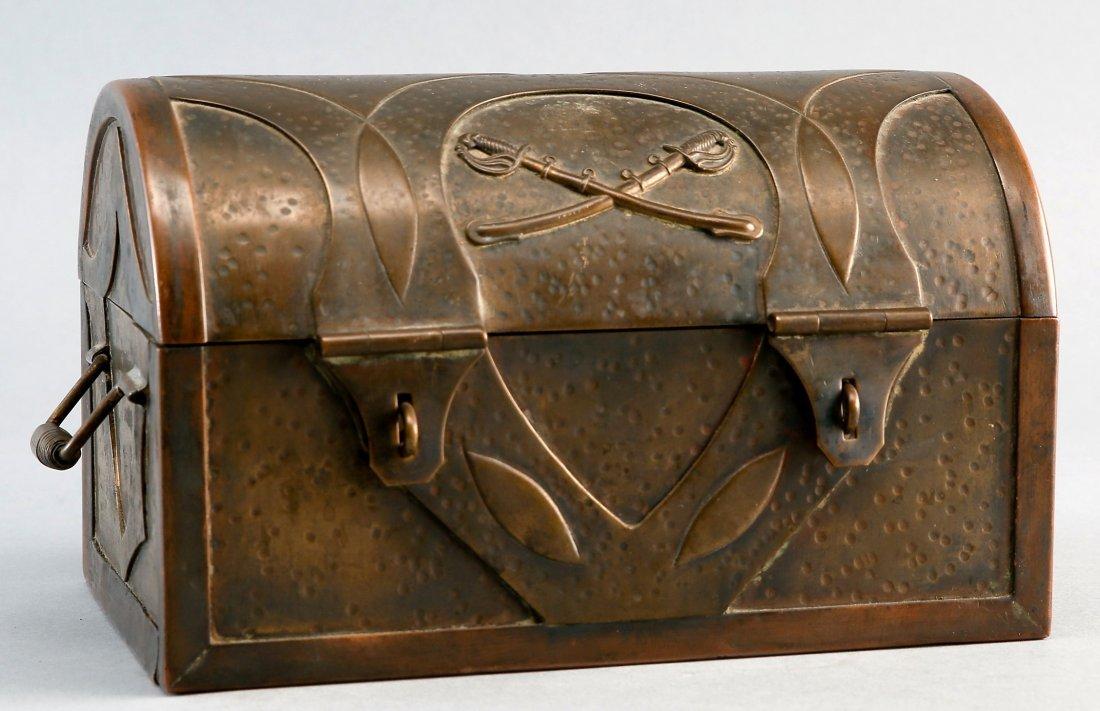 Antique Brass War Chest, Civil War? Military Hand Made