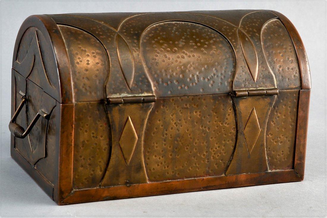 Antique Brass War Chest, Civil War? Military Hand Made - 2