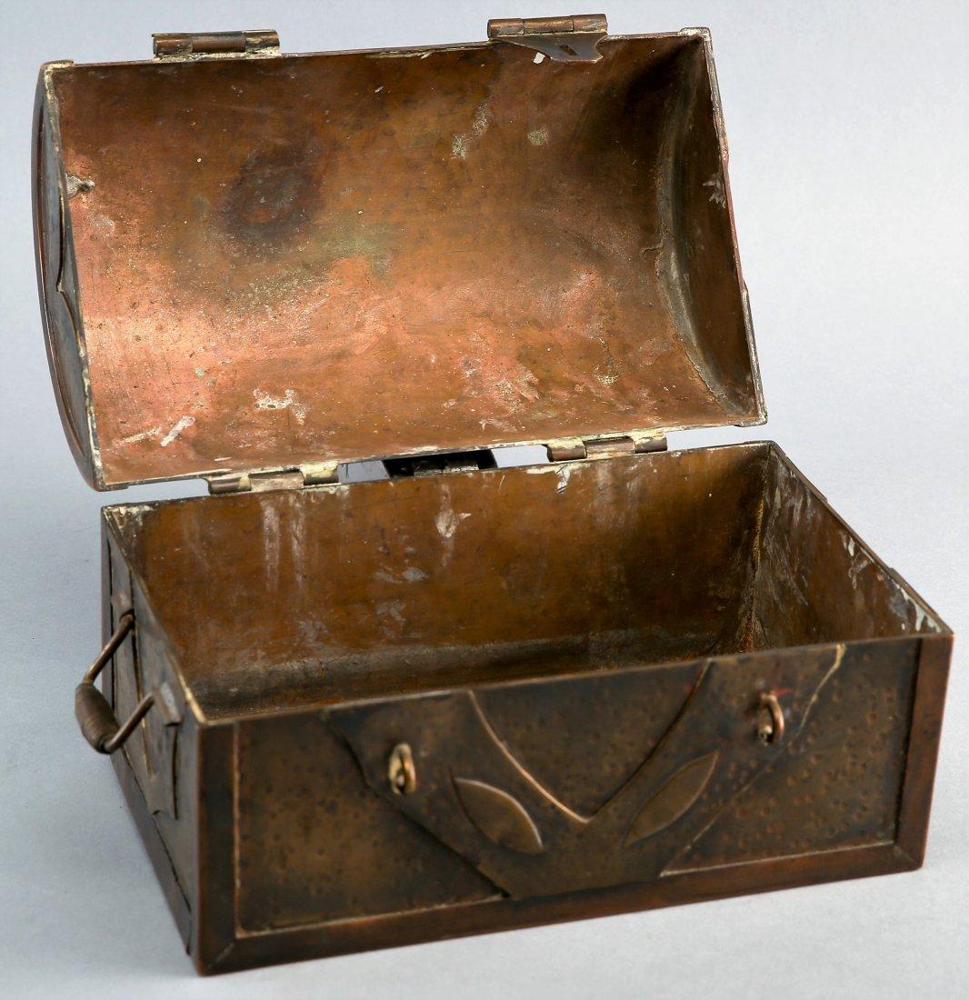 Antique Brass War Chest, Civil War? Military Hand Made - 3
