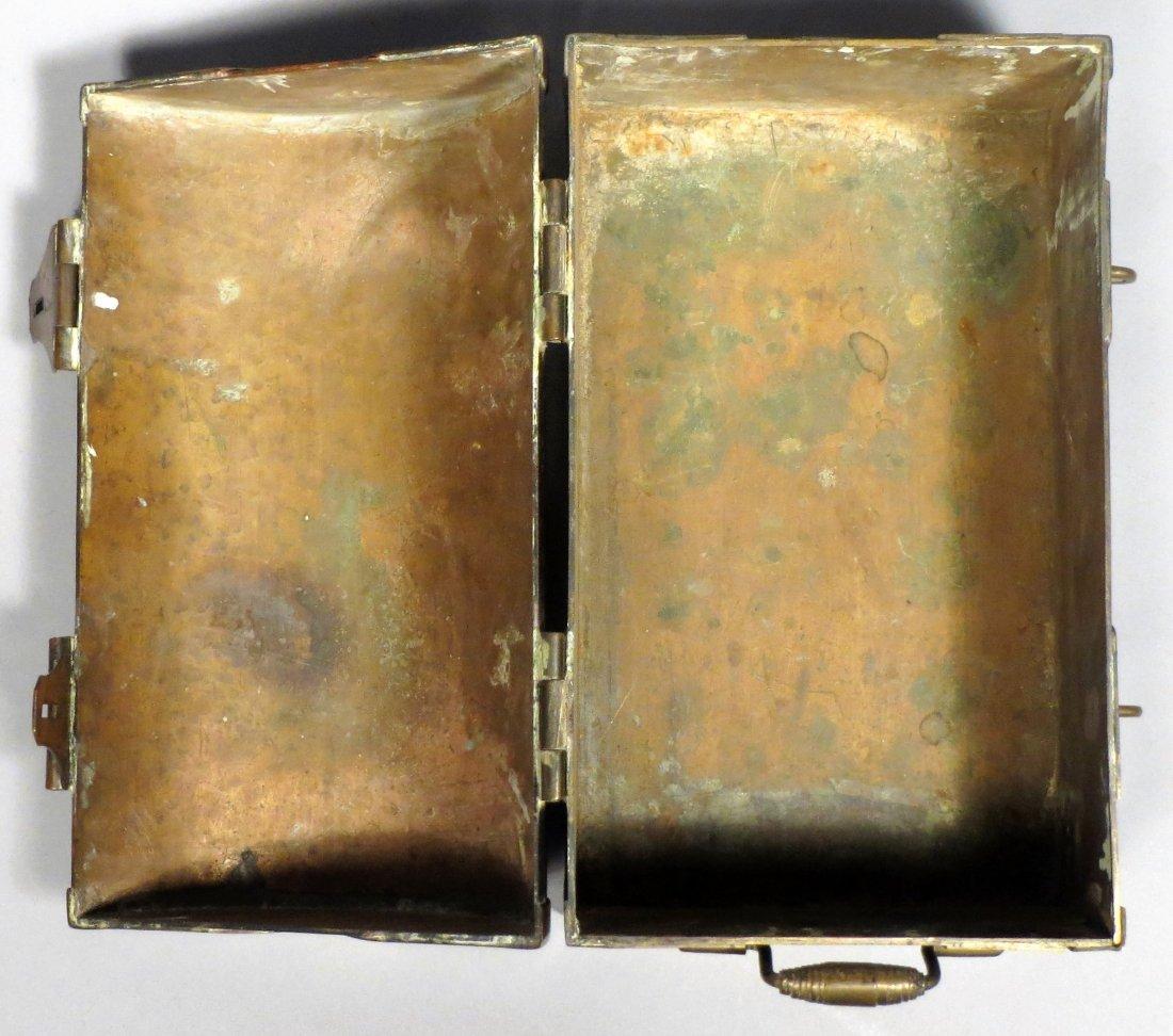 Antique Brass War Chest, Civil War? Military Hand Made - 4