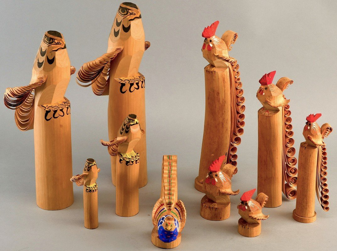Vintage Lot Sasano Carvings, All Birds