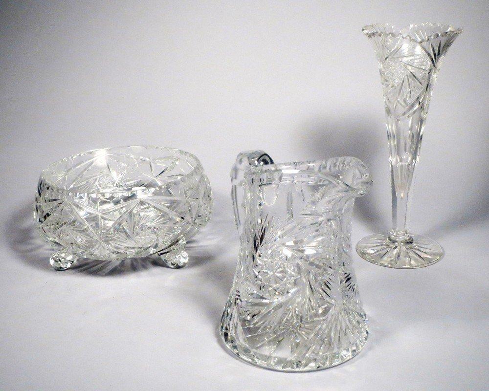 American Brillant Cut Crystal Lot