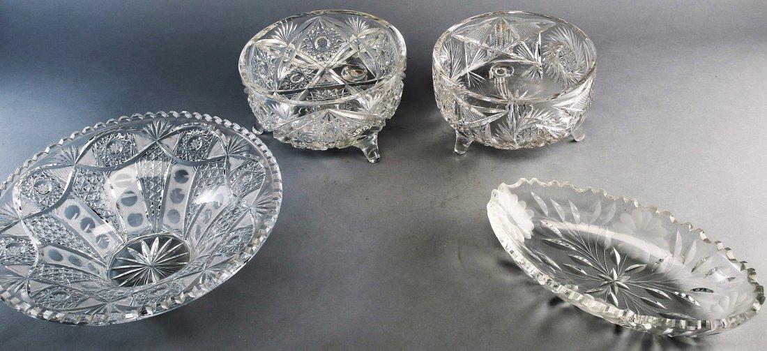 4 pc. American Brilliant Cut  Crystal, Lot