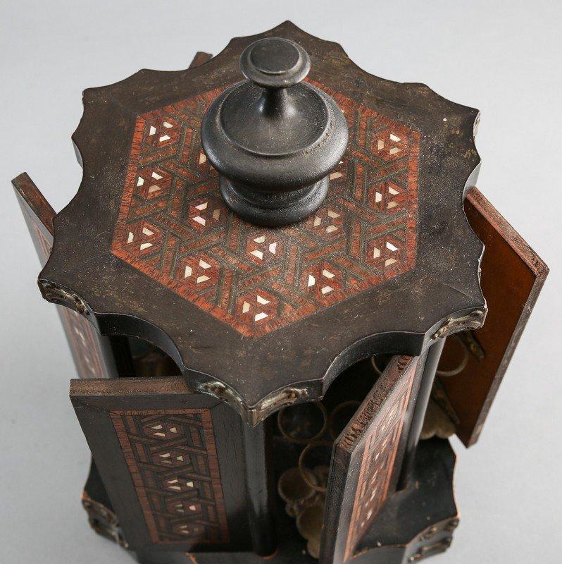 Victorian Rotating Musical Cigar Box, with Key