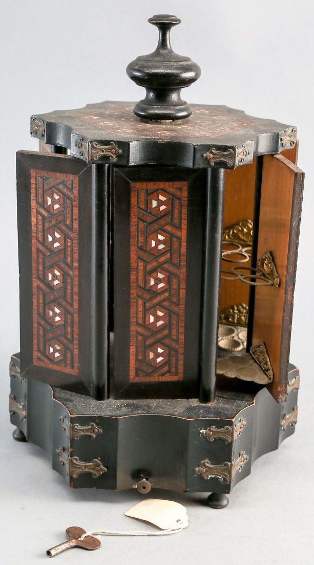Victorian Rotating Musical Cigar Box, with Key - 2