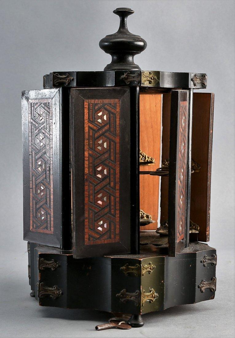 Victorian Rotating Musical Cigar Box, with Key - 4