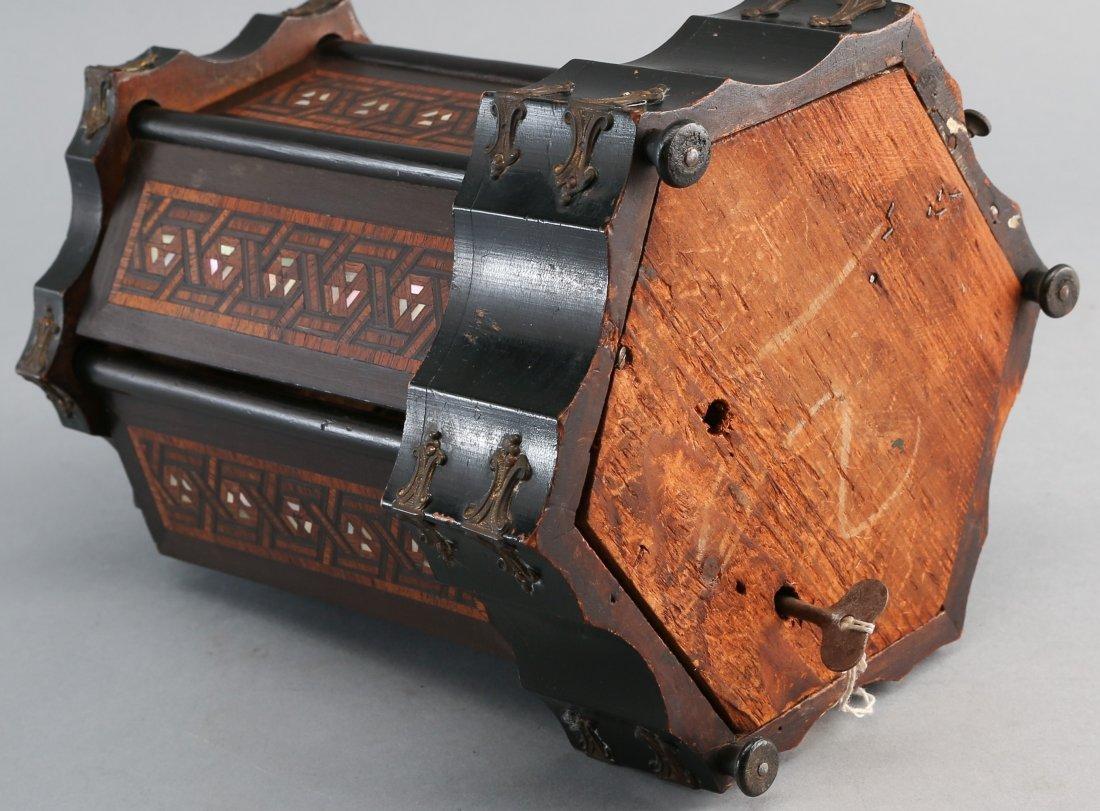 Victorian Rotating Musical Cigar Box, with Key - 5
