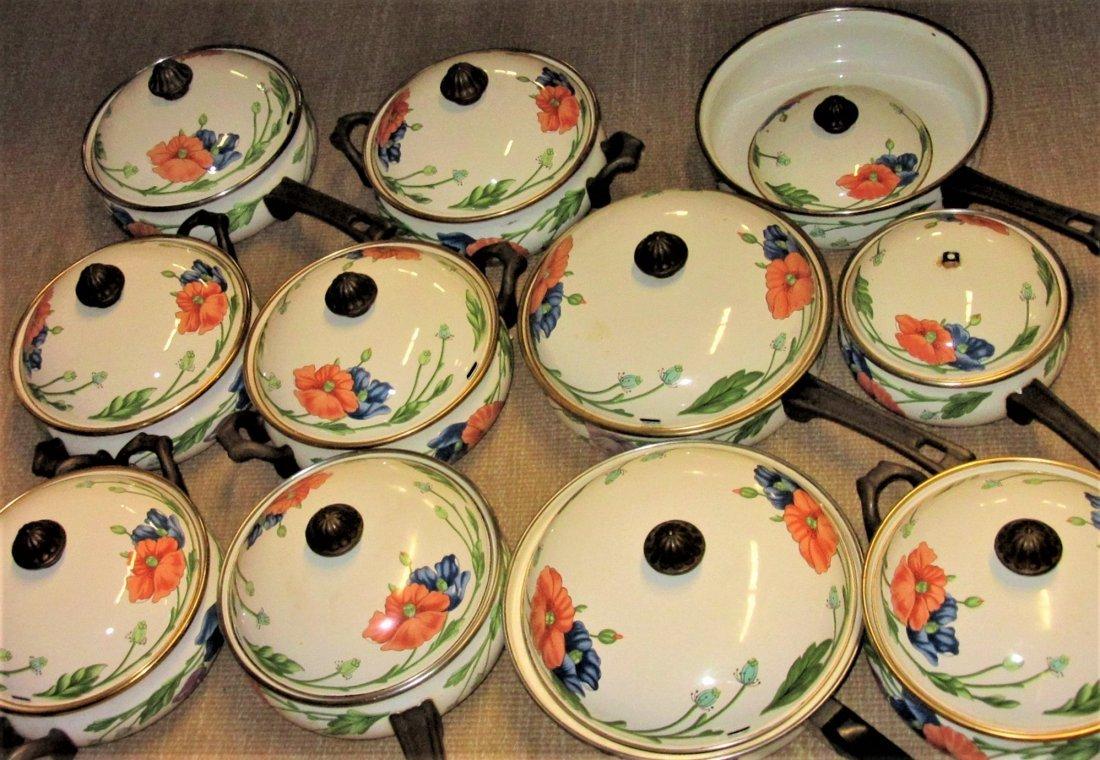 Large Set Villeroy Boch Amapola Cookware Set