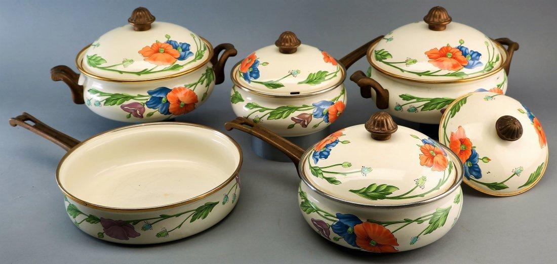 Large Set Villeroy Boch Amapola Cookware Set - 2