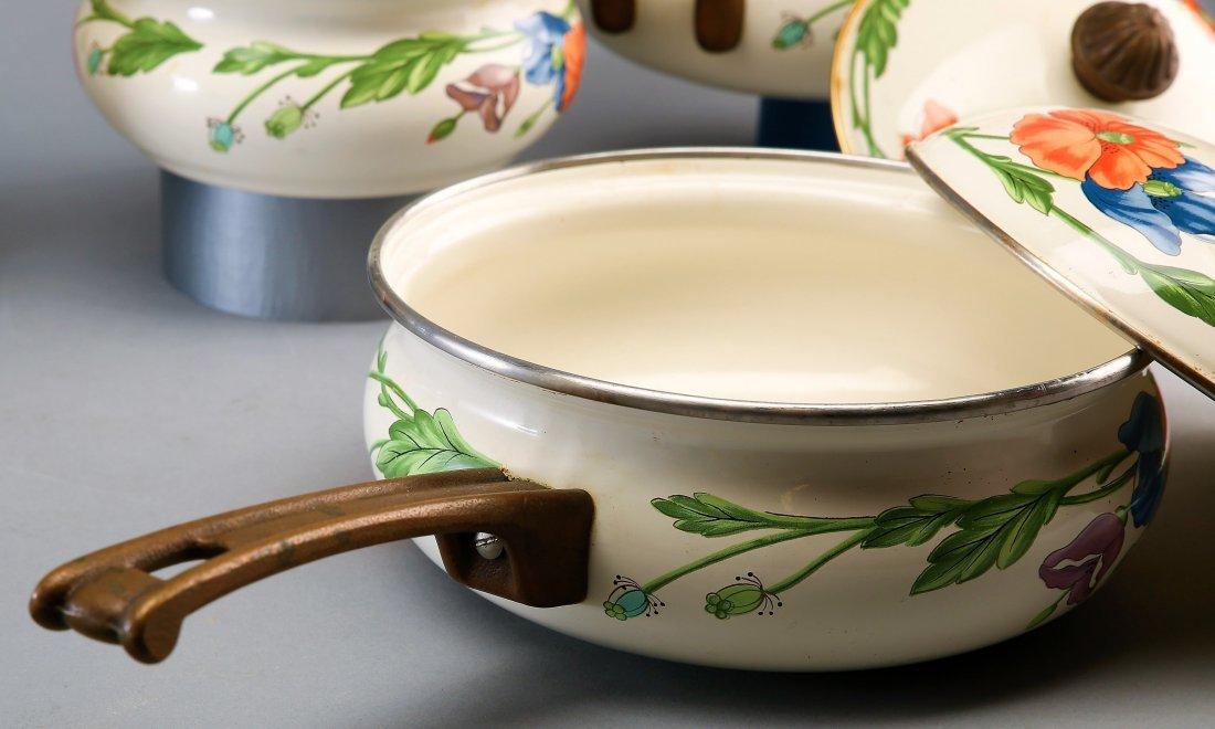 Large Set Villeroy Boch Amapola Cookware Set - 3