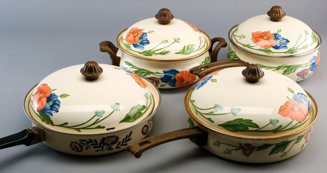 Large Set Villeroy Boch Amapola Cookware Set - 5