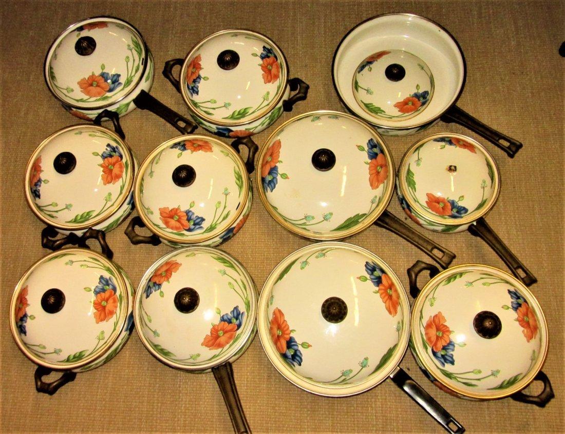 Large Set Villeroy Boch Amapola Cookware Set - 7