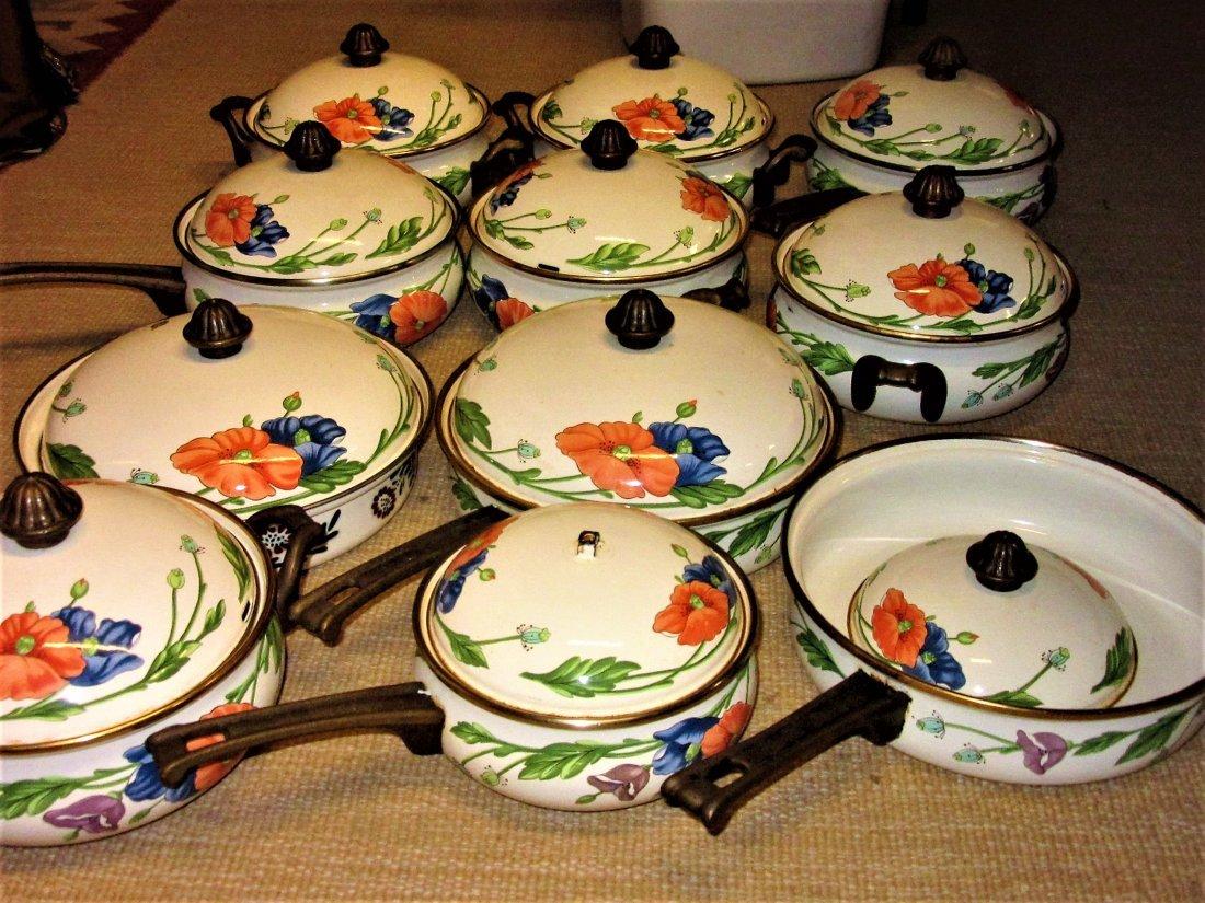 Large Set Villeroy Boch Amapola Cookware Set - 8