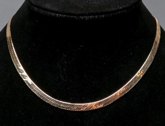 14K Yellow Gold Snake Chain Necklace