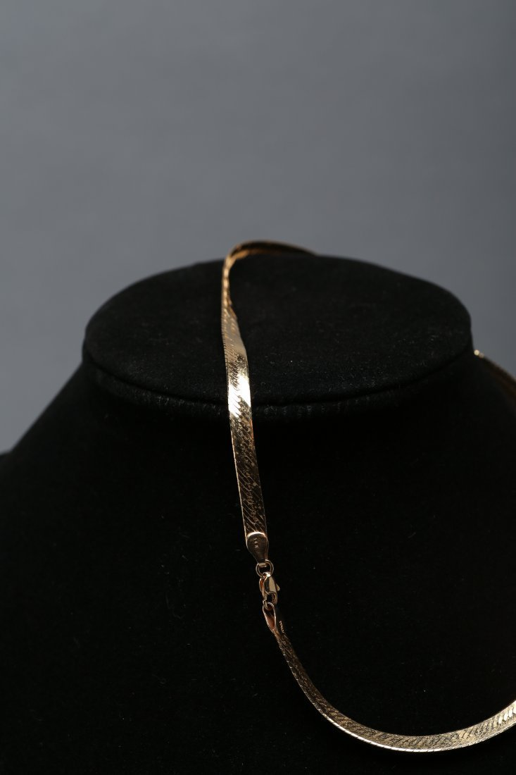14K Yellow Gold Snake Chain Necklace - 2