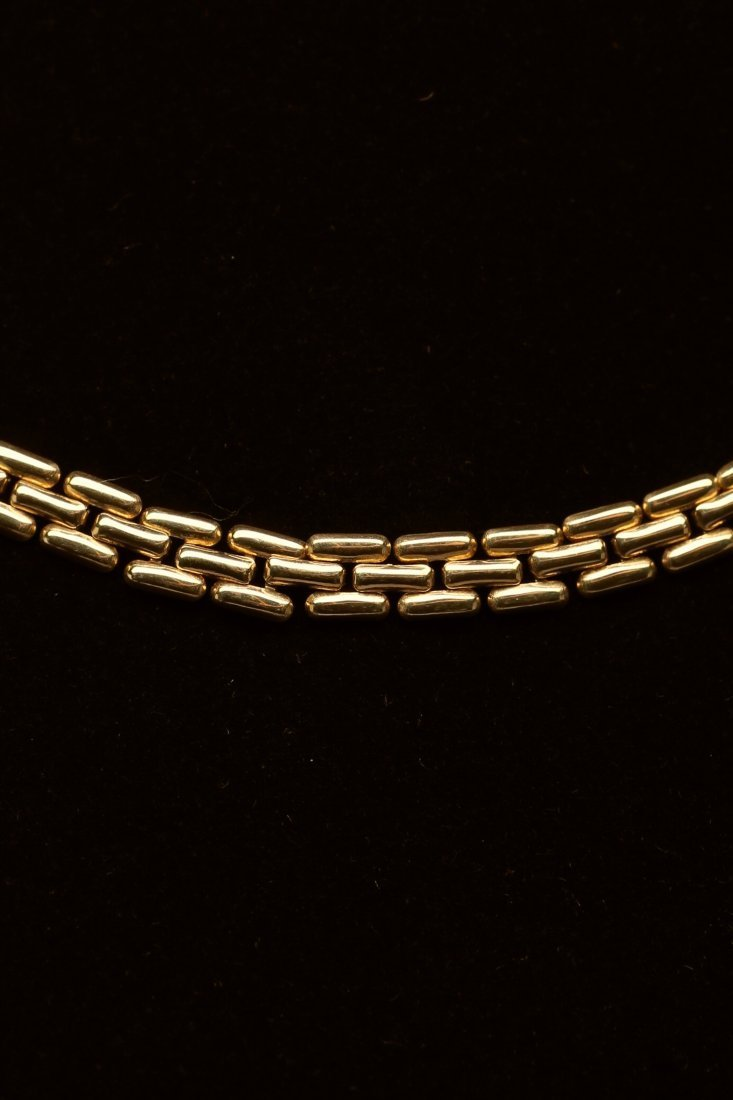 18K Yellow Gold Stylized Panther Chain Necklace - 2