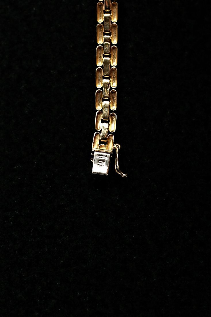 18K Yellow Gold Stylized Panther Chain Necklace - 3