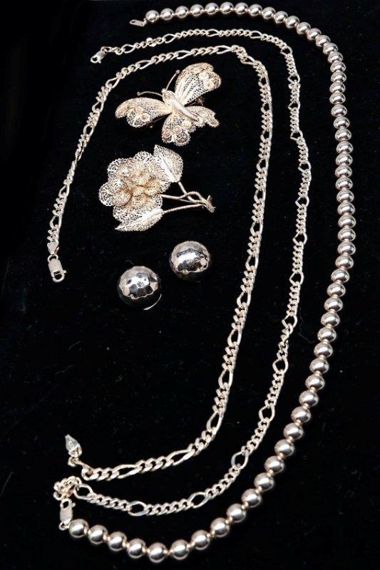 7 piece Sterling silver Jewelry Lot