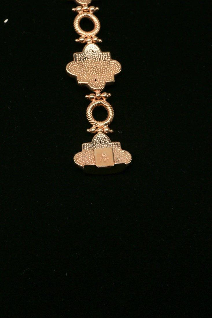 18K Yellow Gold Bracelet and Earrings Set - 3