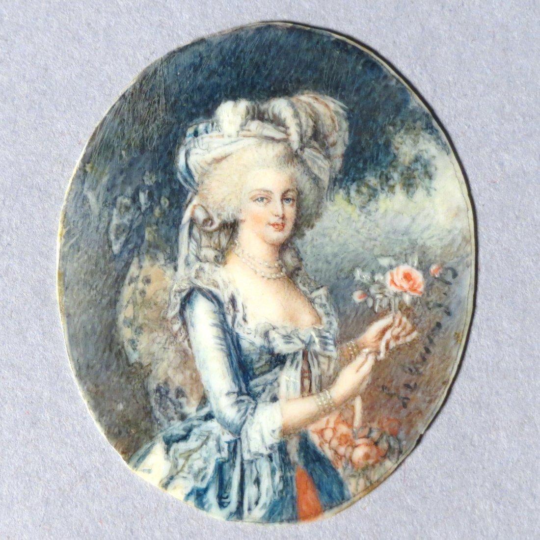Antique French Portrait Miniature