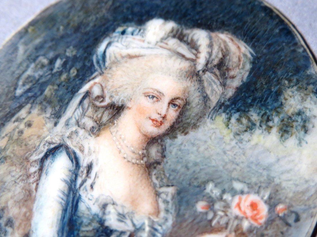 Antique French Portrait Miniature - 2