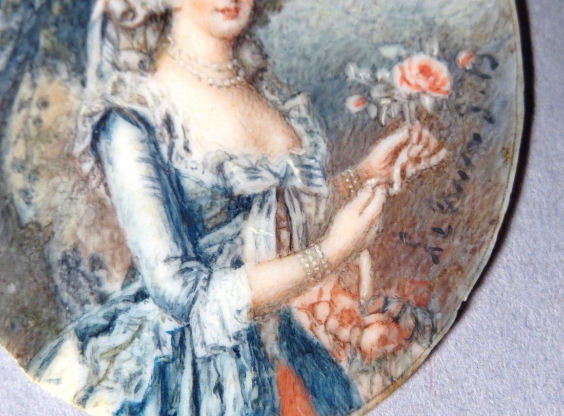 Antique French Portrait Miniature - 3