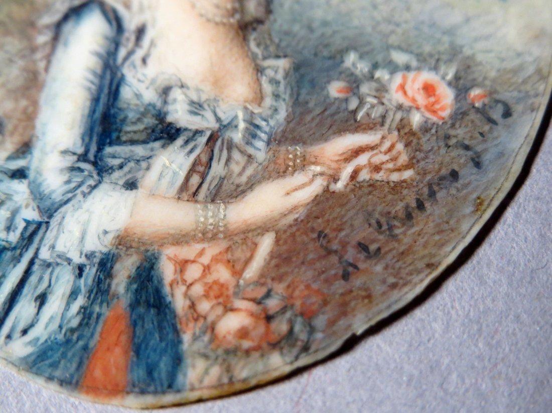 Antique French Portrait Miniature - 4