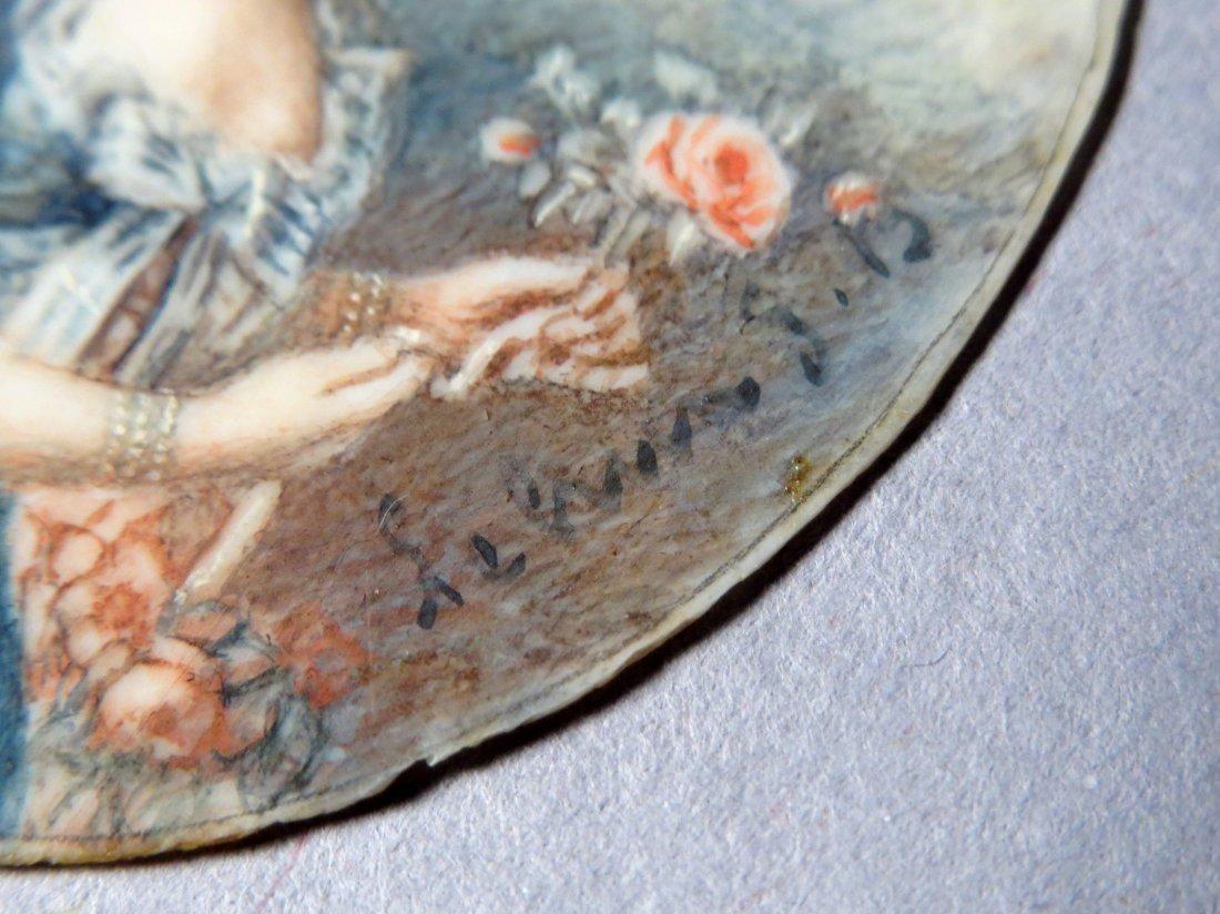 Antique French Portrait Miniature - 5