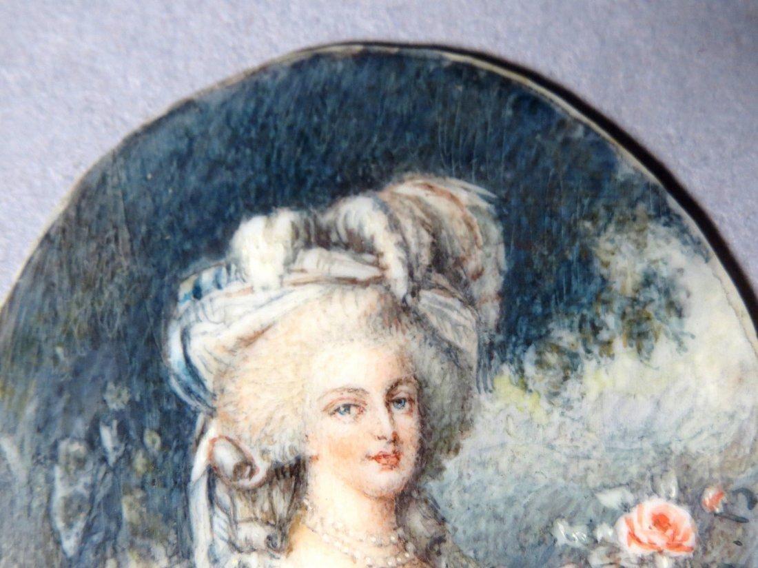 Antique French Portrait Miniature - 6