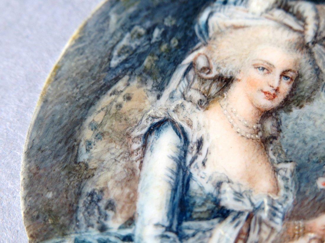 Antique French Portrait Miniature - 7