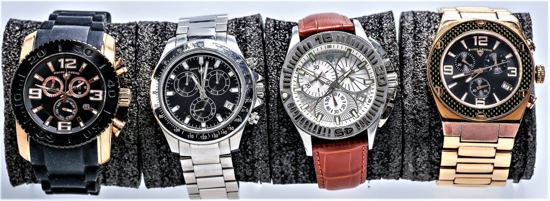 4 Swiss Legend Chronograph Watches