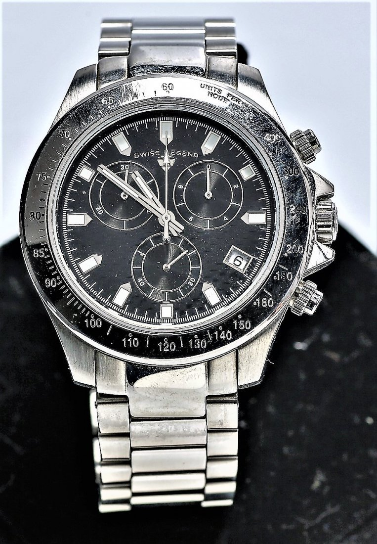 4 Swiss Legend Chronograph Watches - 5