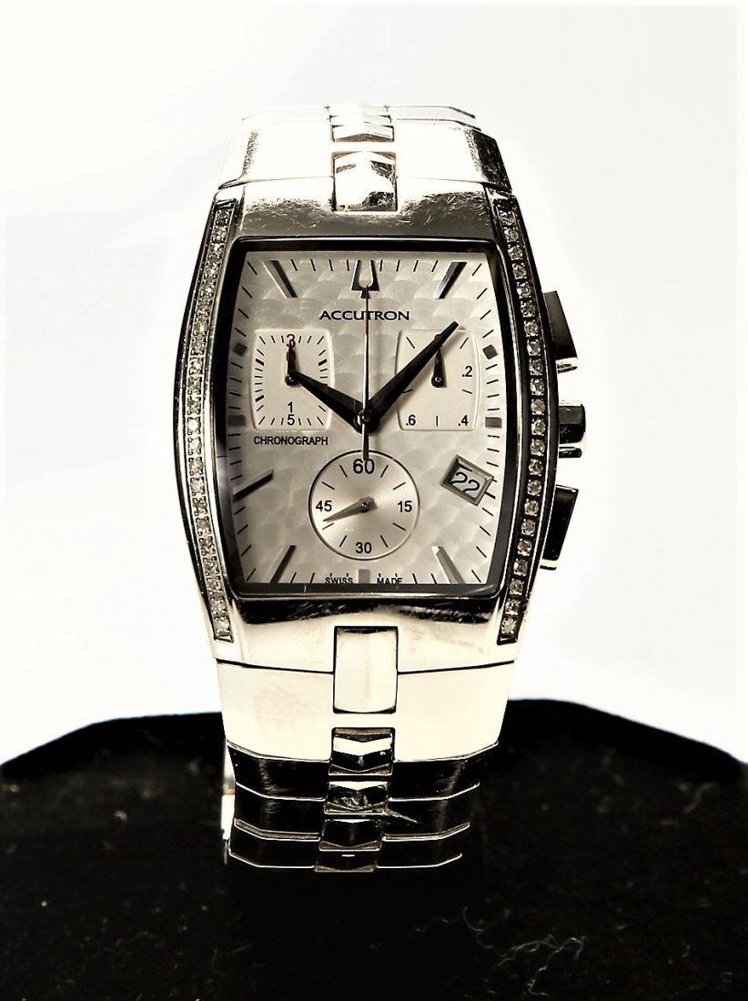 Bulova Accutron Men's Lucerne Diamond Chronograph Watch