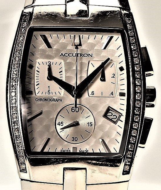 Bulova Accutron Men's Lucerne Diamond Chronograph Watch - 2