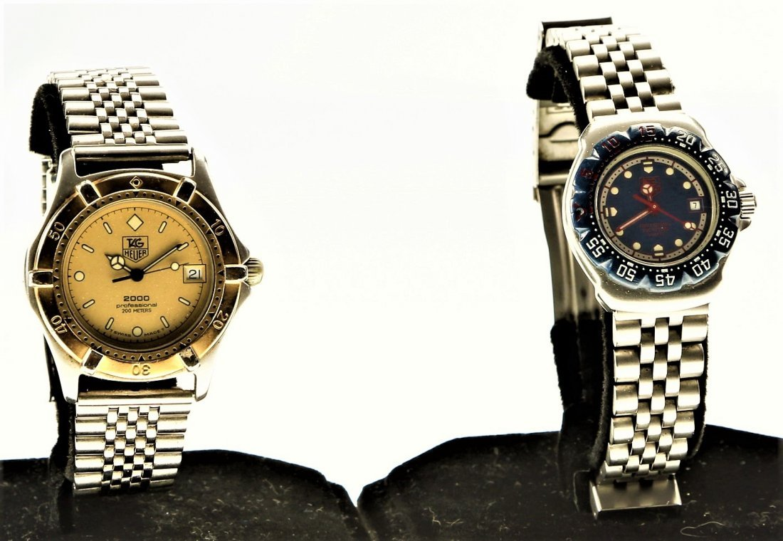 2 Vintage Tag Heuer Watches, Professional & Formula 1