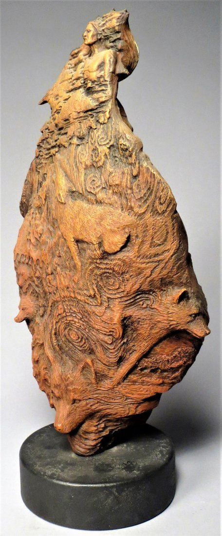 """Rick Cain \""""WOLF PRINCE\"""" Sculpture Signed & Numbered - 2"""