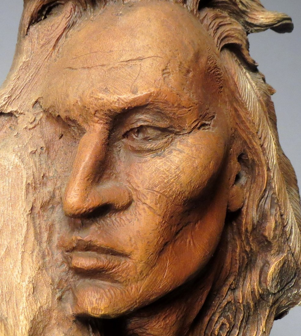 """Rick Cain \""""WOLF PRINCE\"""" Sculpture Signed & Numbered - 5"""