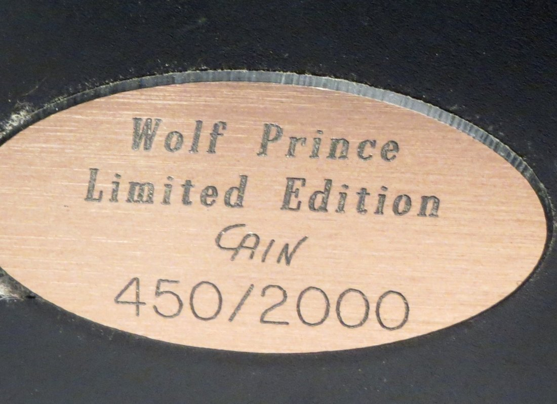 """Rick Cain \""""WOLF PRINCE\"""" Sculpture Signed & Numbered - 9"""