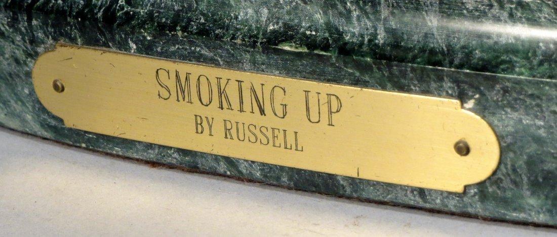 C.M. Russell Smoking Up Bronze - 4