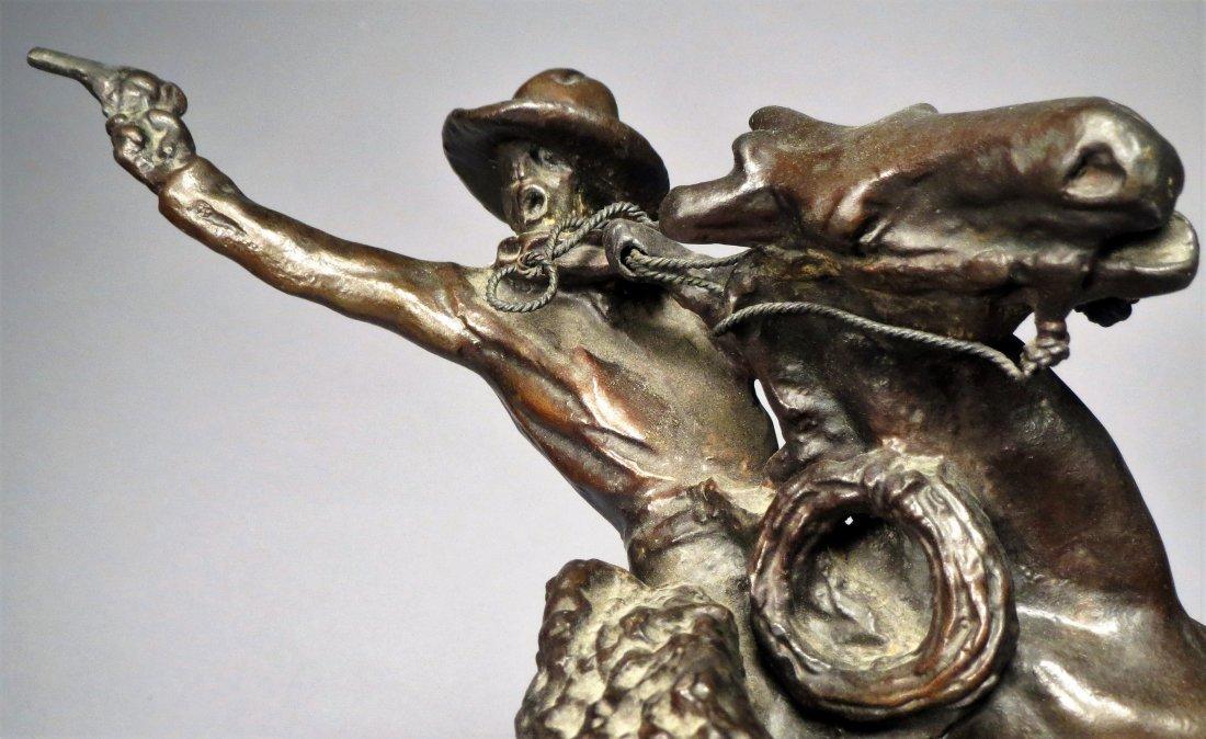 C.M. Russell Smoking Up Bronze - 7