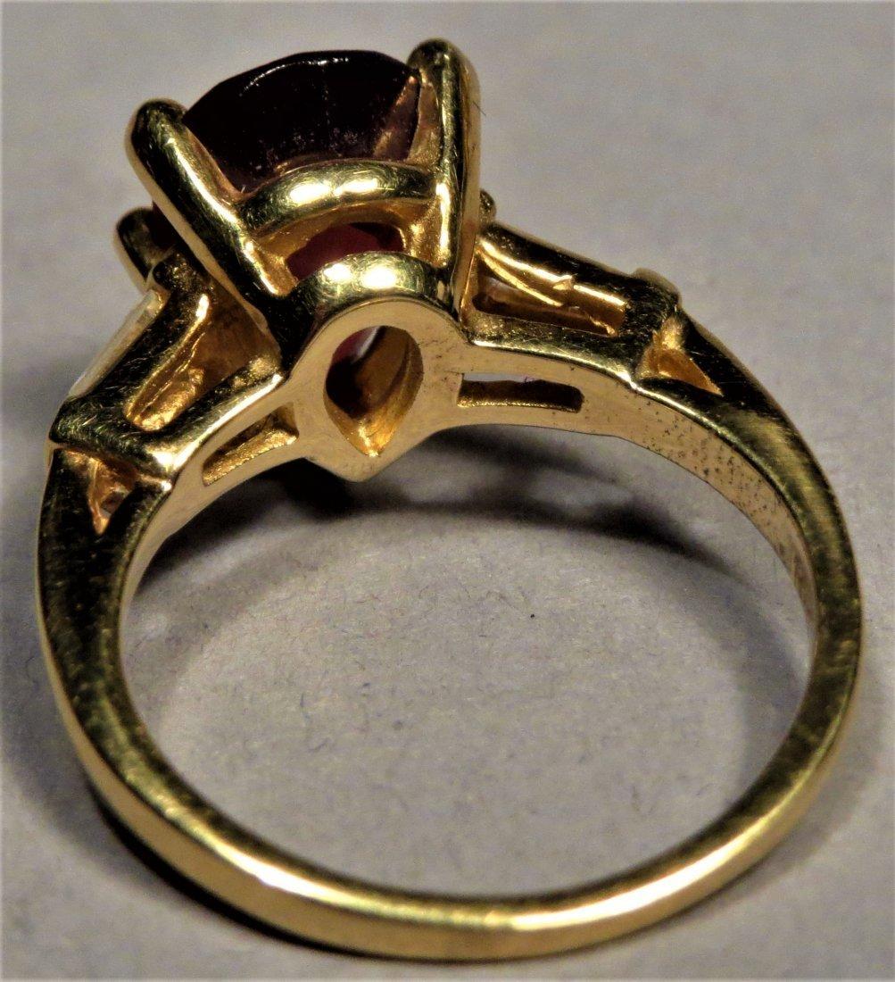 Beautiful 18k Rubellite Tourmaline & Dia. Ring - 7